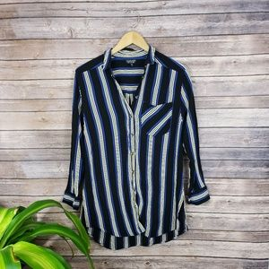 Topshop Striped Over-sized Button-up Size 6